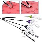 腹腔鏡持針器、鉗子 縫合実習のための腹腔鏡手術糸付き四仕様医学モデル/針クランプ/鉗子の分離/はさみ/穴グリッパー 腹腔鏡訓練シミュレータニードルクランプの