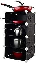 Cubic Kitchen Organizer, Black - H 68 cm x W 37 cm x D 37 cm