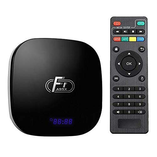 Sofobod TV Box Android 8.1 Smart TV Box 2GB RAM+16GB ROM 4K TV S905W Quad Core H.265 Decoding 2.4GHz WiFi HDMI BT4.1 - Model No.: A95X F1