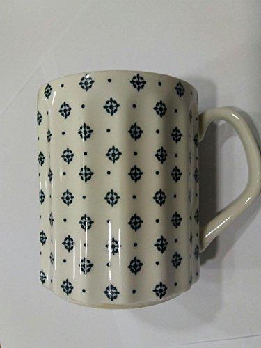 Mug bleu américain Comptoi de Famille décor 154680 porcelaine