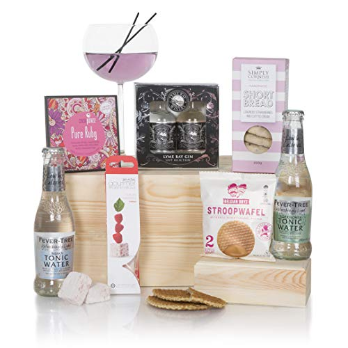 The Luxury Gin Hamper For Her - Gin Hampers - Gin Hampers and Gift Baskets For Her - Birthday Hamper and Thank You Gifts