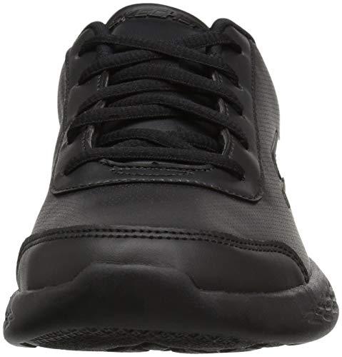 Skechers Go Run 600-Recess Chic, Zapatillas, Negro (BBK Black PU/Black Trim), 34 EU