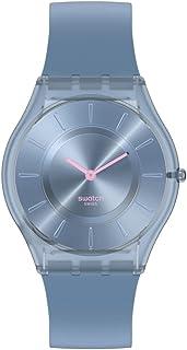 Swatch SKIN CLASSIC 2 bio-sourced Material Quartz Silicone Strap, Blue, 16 Casual Watch (Model: SS08N100)