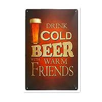 Cold Beer 金属板ブリキ看板警告サイン注意サイン表示パネル情報サイン金属安全サイン
