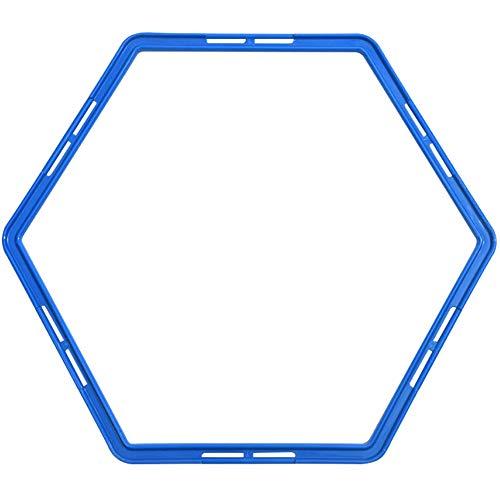 Fußball-Training Ringe Sechseck geformte Beweglichkeit Übung Ringe Physical Training Ring Football Trainer Speed ??Training Ringe mit Karten Buckle 1pc Blau