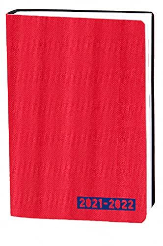 Quo Vadis 1281570Q Diario Scolastico EUROTEXTAGENDA Multilingua Anno 2021-2022 Colore Rosso Formato 12x17cm Giornaliera 12 Mesi Agosto-Luglio Carta Bianca Copertina Morbida effetto tessuto Galaxy