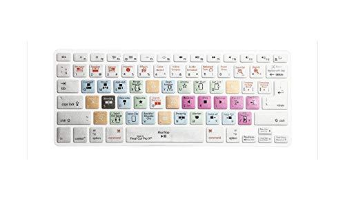 super-super Durable Final Cut Pro X Shortcuts Hot key Silicone Keyboard Cover Skin Protector For Macbook Air Pro Retina 13 15 17 Release-Cut Pro X Silver