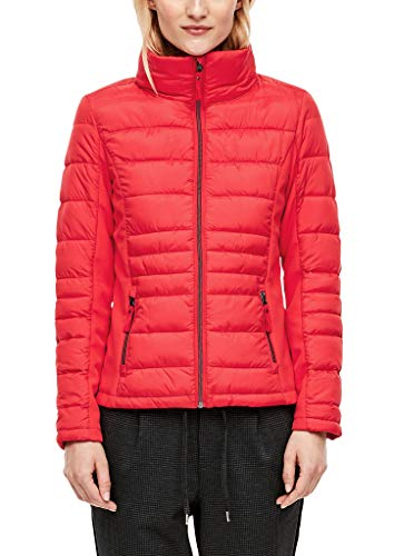 s.Oliver RED Label Damen Steppjacke mit Softshell-Partien red 40