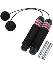 HONGXIN-SHOP Replöst hopp rep viktat trådlöst hopprep längd justerbar trasselfri trådlös hastighetsrep för sport träning MMA träning fitness lämplig för vuxna och barn halvbelastade