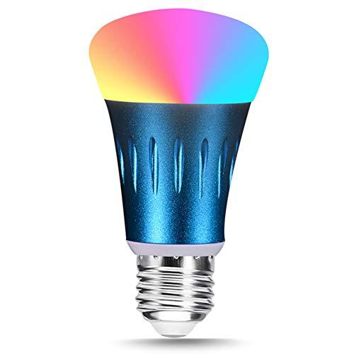Bombilla LED Inteligente Wifi Ajustable Y Lámpara Multicolor Funciona Con Amazon Alexa Y Google Home, E27 60W RGBW Equivalente 7W Bombilla De Cambio De Color (4 Pack)