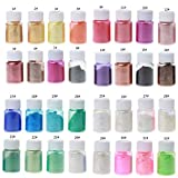 Epoxidharz Farbe 32 Farben 10 G, Seifenfarbe Set Metallic Farbe Resin Farbe, Mica Powder Pigmente...