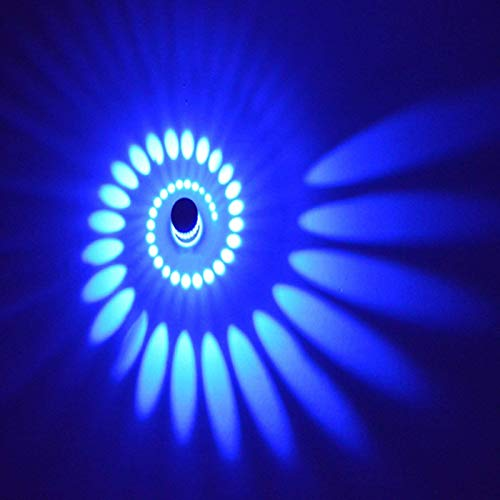 Coocnh Lampada da Parete in alluminio applique da parete 3W LED parete moderna Faretti Lampada effetto lampada del corridoio bagno apparecchio Blu
