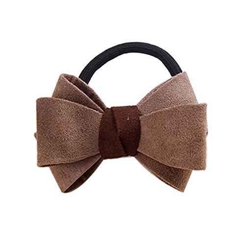 5 PC kaki solide accessoires élastiques à cheveux style bowtie bandes de cheveux