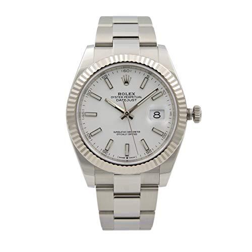 Rolex Datejust 41 Silver Dial Oyster Bracelet Reloj de lujo Ref. 126334