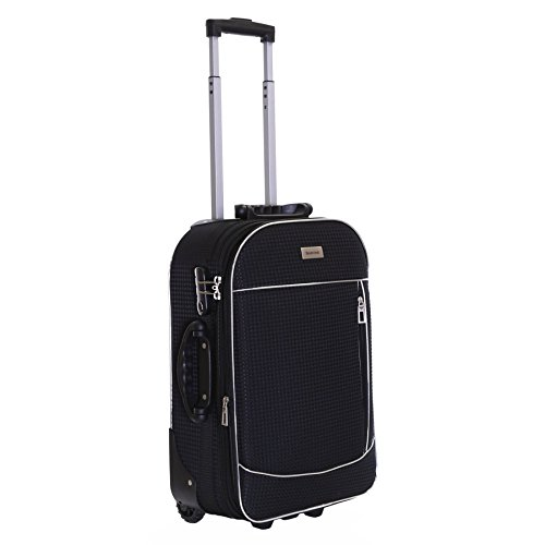 Slimbridge Cabin Hand Luggage Carry-on Suitcase Bag Expandable and Lightweight 55 cm 2.5 kg 35 litres 2 Wheels with Integrated Number Lock, Rennes Black