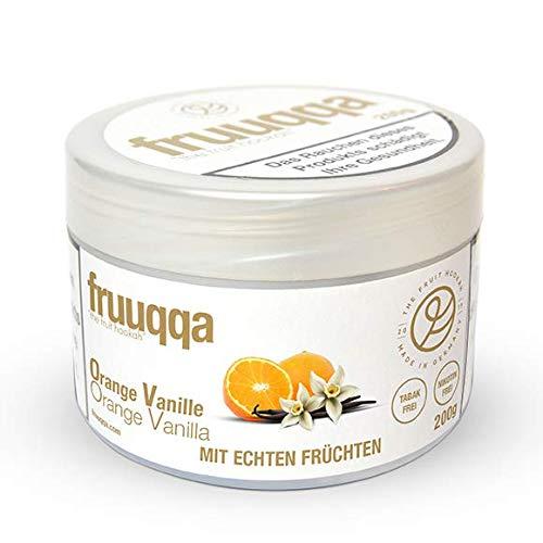 Fruuqqa Shisha Tabakersatz Nikotinfrei 200gr Orange Vanille