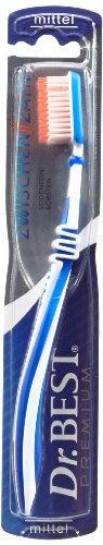 Dr.BEST Zwischenzahn Zahnbürste, Mittel (6 x 1 Stück), Für eine gründliche Reinigung der Zahnzwischenräume mit Spezialborsten