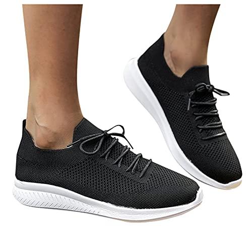 FACAIAFALO Zapatillas Running Mujer Turismo y deporte Zapatos deportivos con Cordones Informal turísticos Mujer Zapatillas Calzado deportivo Transpirables Mujer Gimnasia Ligero Sneakers