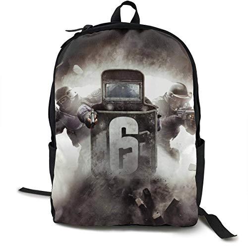 Daypack,Rainbow Six Siege Backpack,Lightweight School Backpacks for Gym Running,32cm(W) x42cm(H)