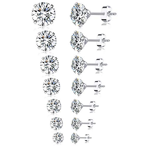 Women Cherry Stud Earrings Cubic Zirconia Hypoallergenic Earrings Jewels Fashion Surgical Stainless Steel Studs Earrings Little Girl