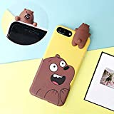 3D Cartoon Animals Cute We Bare Bears Soft Silicone Phone Case Cover for iPhone 5 5S SE 6 6s 7 8 Plus X XR XS Max (iPhone 7 Plus)