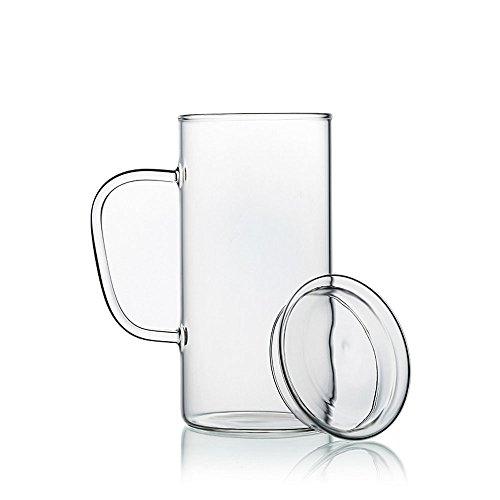 SAIBANG Taza de cristal transparente de 650 ml, hecha a mano, resistente...