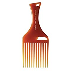 The Pick Comb (2.75 inches wide x 6.75 inches tall) lifts and adds volume without combing. Especially effective on curly or thick medium to long hair. Reduces frizz, glides through hair easily, ergonomically designed Combs are sanitizable: feel free ...