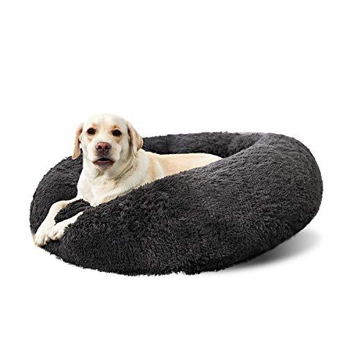 Washable Dog Round Bed Large Dogs, Donut Dog Bed Medium Dog, Comfy Dog Calming Cuddler Bed