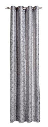 Heco Ösenschal, Stoff, grau/Silber, 245 cm x 140 cm
