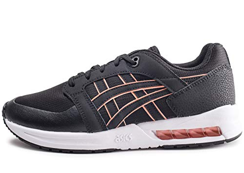 ASICS Tiger Womens Gel Saga Running Style Trainers Black 4 UK