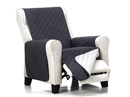 Lanovenanube - Funda sillón Acolchado - Práctica - 1 Plaza - Color Gris C10