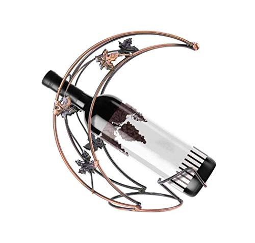 ZHHk Tenedor De Botella De Vino Creativo De La Luna De Metal Estante De Vino De Escritorio De Visualización De Moda