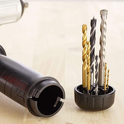 BLACK+DECKER BEH850KA32-QS Perceuse à percussion filaire - 54 400 cps/min - 32 accessoires - Guide de profondeur - Poignée latérale - Livrée en boite à outils 850W