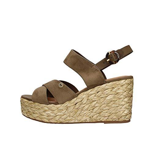 Sándalo Wrangler Mujeres Broche de Tela WL01501A Militar. Un Zapato cómodo Adecuado para Todas Las Ocasiones. Primavera Verano 2020 de la UE 36