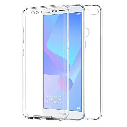 TBOC Cover per Huawei Honor 7A [5.7 Pollici]- Custodia [Trasparente] Completa Copertura Integrale [Silicone TPU] Protezione Totale [360 Gradi] Full Body Anteriore Posteriore Sottile Resistente
