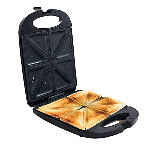 YFGQBCP Sandwich Maker Toaster, Panini Grill eléctrico, Máquina de desayunos Multifuncional, 1200W 4 Sandwich Maker con Placas extraíbles sin paletas