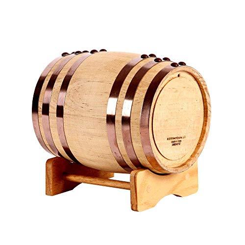Barril de vino duradero barril de vino de roble 3L 100L vino blanco barril de vino decoración del hogar barril barril de cerveza de roble (tamaño: 3L)