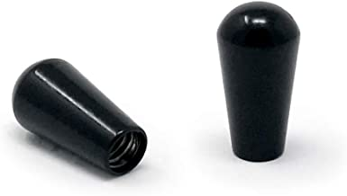 Vintage Forge Black Metal Toggle Switch Tip Caps for Gibson USA Les Paul Electric Guitar (2-Pack) LPST-BLM