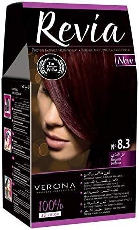 Pack de 4 tintes profesionales completos Gran brillo y cobertura. Variedad de 20 colores diferentes (08.3 - Borgoña)