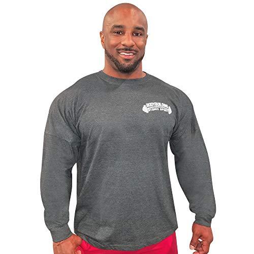 Otomix Men's Bodybuilding Sport Long Sleeve Tee Shirt (Medium) Charcoal