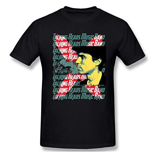 AJY Talking Heads -3 Men's Basic Short Sleeve T-Shirt Black Small