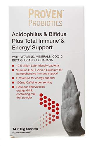 Proven Probiotics Acidophilus and Bifidus Plus Total Immune and Energy - Pack of 14