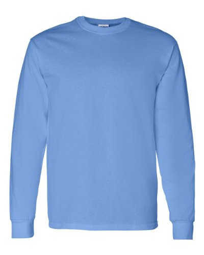 Gildan Men's Preshrunk Taped Neck Heavy Rib Knit T-Shirt, Carolina Blue, Large