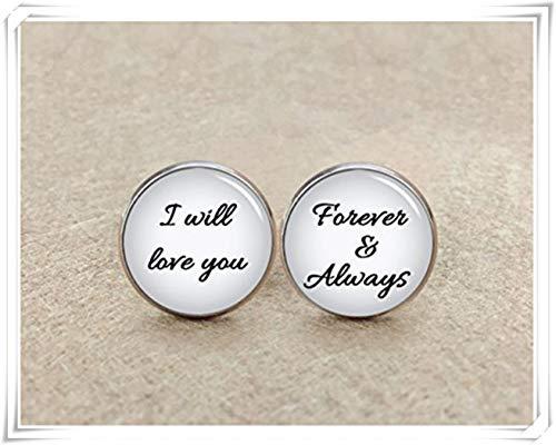 I Love You Forever et toujours Boutons de manchette, boutons de manchette de mariage, marié Boutons de manchette Cadeau