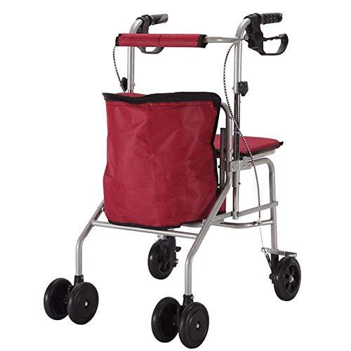 Carrito Compras Multifunción Plegable Seat 4 Rondas Peso Ligero del Caminante del Ocio