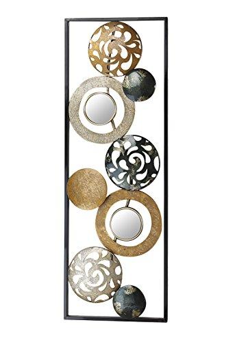 Kobolo Wandbild Ringen und Kreisen und Spiegeln 90x31 cm