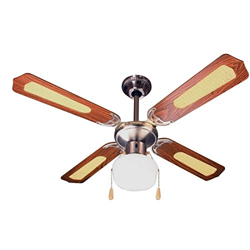 ventilatore da soffitto marrone Zephir ZFS9107M Ventilatore da Soffitto Decorativo