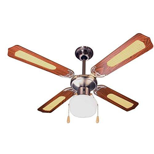 Zephir ZFS9107M Ventilatore da Soffitto Decorativo, Marrone, a risparmio energetico, ferro;legno