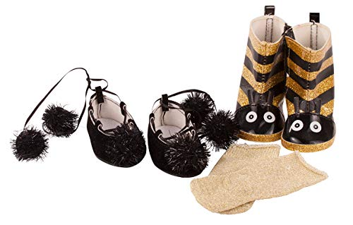 Götz 3403234 Puppen-Set Bee Box - Puppenkleidung für Babypuppen Gr. M von 42 - 46 cm und Stehpuppen Gr. XL von 45 - 50 cm - 6-teiliges Set