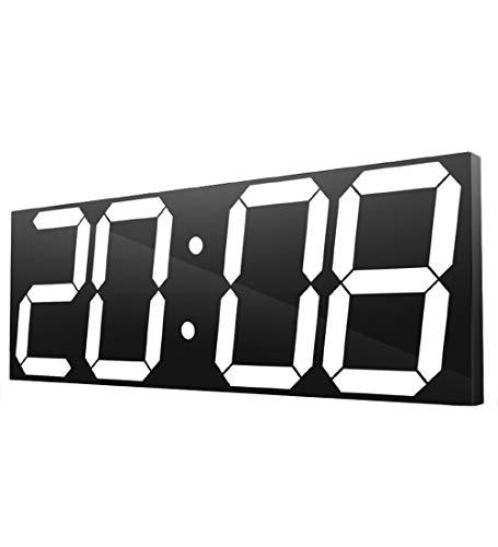 Kexia Orologio da Parete LED Digital, Telecomando Multi-Funzione Orologio Elettronico, Count Down Timer con Il Calendario
